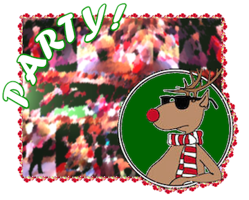 "Party Graphic with ""cool"" reindeer"